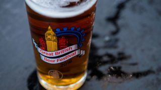 LONDON, ENGLAND - AUGUST 10:  A half pint of beer during the Great British Beer Festival at Olympia Exhibition Centre on August 10, 2018 in London, England. The five day festival showcases over 900 real ales and craft beer and is organised by Campaign for Real Ale group CAMRA.  (Photo by Chris J Ratcliffe/Getty Images)