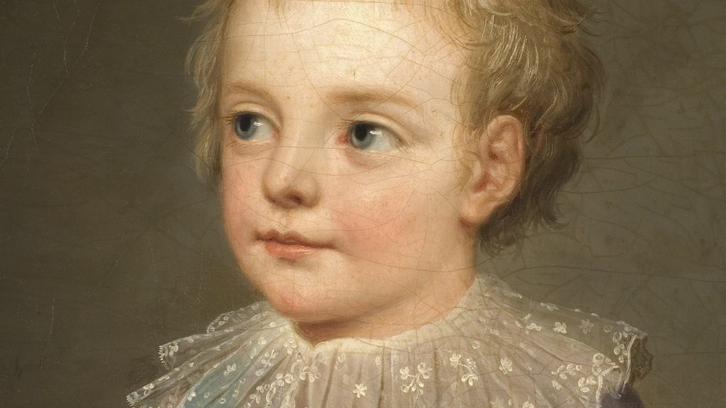 porträtt av Kronprinsen, Le Dauphin, Louis-Joseph-Xavier-François av Frankrike.  Målat av Adolf Ulrik Wertmüller år 1784.
