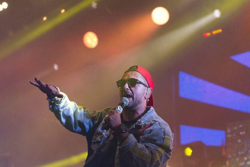 Sopron, 2018. július 1.Majka (Majoros Péter) a Majka & Curtis koncertjén a 26. VOLT Fesztiválon a soproni Lővér kempingben 2018. június 30-án.MTI Fotó: Nyikos Péter