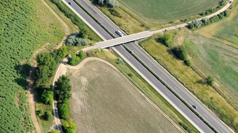 Tata, 2011. június 13. Az M1-es autópálya a Komárom-Esztergom megyei Tata határában. MTI Fotó: H. Szabó Sándor