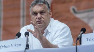 Tusnádfürdõ, 2018. július 28. Orbán Viktor miniszterelnök elõadást tart a 29. Bálványosi Nyári Szabadegyetem és Diáktáborban (Tusványos) az erdélyi Tusnádfürdõn 2018. július 28-án. MTI Fotó: Veres Nándor