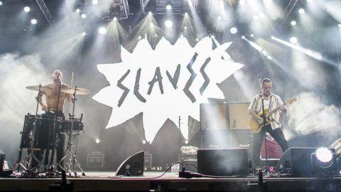 Budapest, 2018. augusztus 12.Isaac Holman  (b) és Laurie Vincent (j) a brit Slaves punk rock együttes koncertjén a 26. Sziget fesztivál ötödik napján az óbudai Hajógyári-szigeten 2018. augusztus 12-én.MTI Fotó: Sóki Tamás