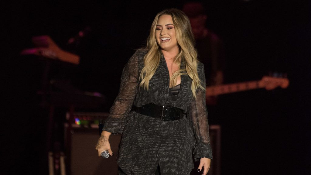 PASO ROBLES, CA - JULY 22:  Demi Lovato performs during the 2018 California Mid-State Fair on July 22, 2018 in Paso Robles, California.  (Photo by C Flanigan/Getty Images)