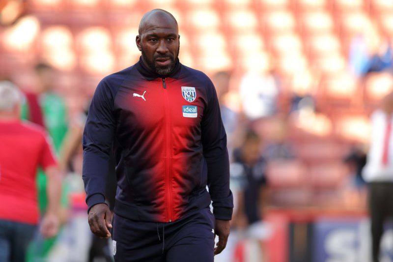 BARNSLEY, ENGLAND - JULY 24: West Bromwich Albion Manager  Head Coach Darren Moore during the Pre-Season Friendly match between Barnsley and West Bromwich Albion at Oakwell Stadium on July 24, 2018 in Barnsley, England. (Photo by James Williamson - AMA/Getty Images)