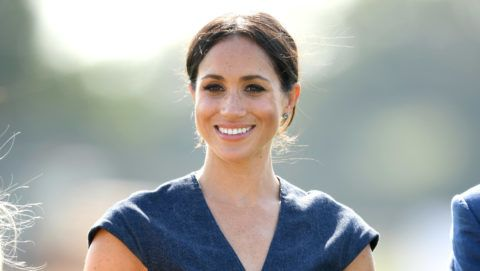 WINDSOR, ENGLAND - JULY 26:  Meghan, Duchess of Sussex attends the Sentebale ISPS Handa Polo Cup at the Royal County of Berkshire Polo Club on July 26, 2018 in Windsor, England.  (Photo by Karwai Tang/WireImage)