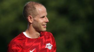 GRIMMA, SAXONY - JULY 20:  Goalkeeper Peter Gulacsi of Leipzig during the Pre Season Friendly Match between FC Grimma and RB Leipzig at Stadium of friendship on July 20, 2018 in Grimma, Germany.  (Photo by Karina Hessland/Getty Images)