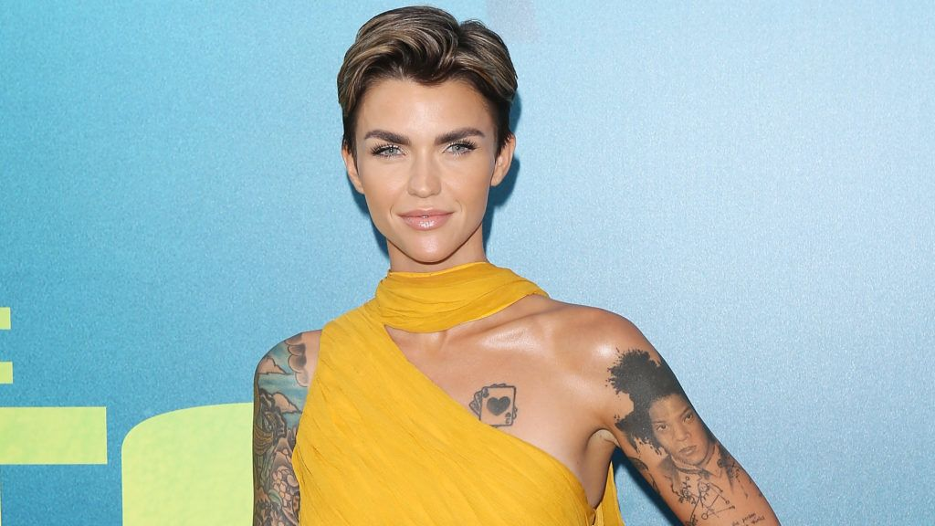 """HOLLYWOOD, CA - AUGUST 06:  Ruby Rose arrives to the Warner Bros. Pictures and Gravity Pictures' premiere of """"The Meg"""" held at TCL Chinese Theatre IMAX on August 6, 2018 in Hollywood, California.  (Photo by Michael Tran/FilmMagic)"""