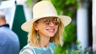 Actress Naomi Watts is seen arriving at the 75th Venice Film Festival at Darsena Excelsior on August 28, 2018 in Venice, Italy.  (Photo by Matteo Chinellato/NurPhoto via Getty Images)