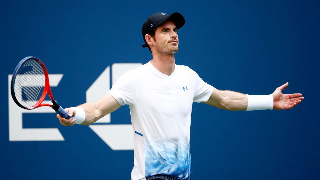 NEW YORK, NY - AUGUST 29:  Andy Murray of Great Britain reacts during his men's singles second round match against Fernando Verdasco of Spain on Day Three of the 2018 US Open at the USTA Billie Jean King National Tennis Center on August 29, 2018 in the Flushing neighborhood of the Queens borough of New York City.  (Photo by Julian Finney/Getty Images)