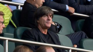 MOENCHENGLADBACH, GERMANY - AUGUST 25: Head coach Joachim Loew of Germany looks on during the Bundesliga match between Borussia Moenchengladbach and Bayer 04 Leverkusen at Borussia-Park on August 25, 2018 in Moenchengladbach, Germany. (Photo by TF-Images/Getty Images)
