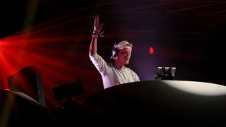 INDIO, CA - APRIL 15:  DJ AVICII performs onstage at the 2012 Coachella Valley Music & Arts Festival held at The Empire Polo Field on April 15, 2012 in Indio, California.  (Photo by Mark Davis/Getty Images for Coachella)