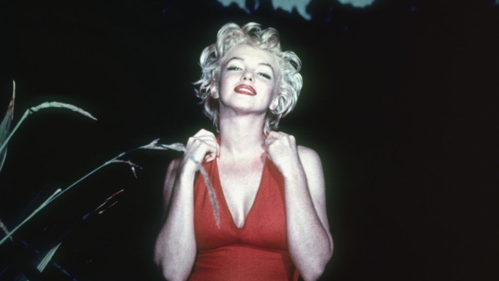 American film actress Marilyn Monroe (Norma Jean Mortenson or Norma Jean Baker, 1926 - 1962).   (Photo by Baron/Getty Images)