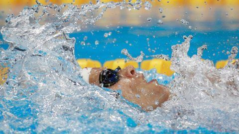 RIO DE JANEIRO, BRAZIL - AUGUST 11:  Xiang Liu of China competes in the first Semifinal of the Women's 200m Backstroke on Day 6 of the Rio 2016 Olympic Games at the Olympic Aquatics Stadium on August 11, 2016 in Rio de Janeiro, Brazil.  (Photo by Adam Pretty/Getty Images)