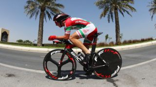 DOHA, QATAR - OCTOBER 11: Barnabas Peak of Hungary competes during the Junior Men's Individual Time Trial on day 3 of the UCI Road World Championships on October 11, 2016 in Doha, Qatar.  (Photo by Bryn Lennon/Getty Images)