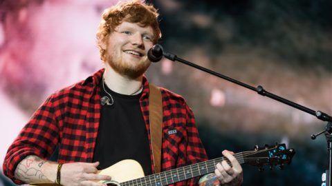 PILTON, ENGLAND - JUNE 25:  Ed Sheeran headlines on the Pyramid Stage during day 4 of the Glastonbury Festival 2017 at Worthy Farm, Pilton on June 25, 2017 in Glastonbury, England.  (Photo by Ian Gavan/Getty Images)