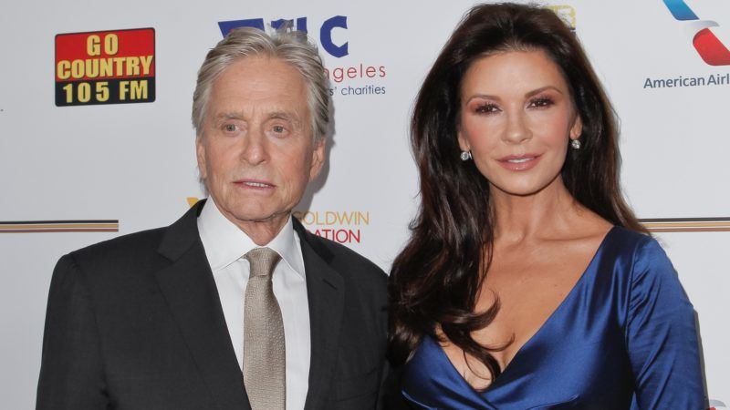 LOS ANGELES, CA - NOVEMBER 09:  Michael Douglas and Catherine Zeta-Jones attend the Los Angeles Mission Legacy of Vision Gala at Four Seasons Hotel Los Angeles at Beverly Hills on November 9, 2017 in Los Angeles, California.  (Photo by Tibrina Hobson/Getty Images)