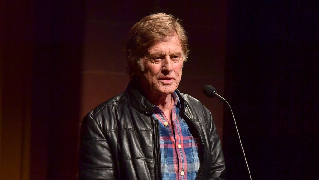 """PARK CITY, UT - JANUARY 18:  Robert Redford attends the """"Blindspotting"""" Premiere during the 2018 Sundance Film Festival at Eccles Center Theatre on January 18, 2018 in Park City, Utah.  (Photo by George Pimentel/Getty Images)"""