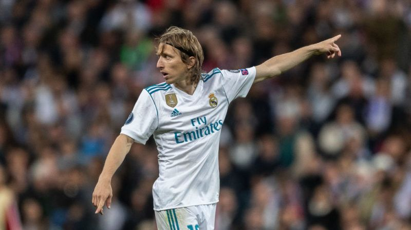 MADRID, SPAIN - MAY 01: Luka Modric of Real Madrid gestures during the UEFA Champions League Semi Final Second Leg match between Real Madrid and Bayern Muenchen at the Bernabeu on May 1, 2018 in Madrid, Spain. (Photo by Boris Streubel/Getty Images)
