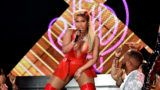 LOS ANGELES, CA - JUNE 24:  Nicki Minaj performs onstage at the 2018 BET Awards at Microsoft Theater on June 24, 2018 in Los Angeles, California.  (Photo by Kevin Mazur/Getty Images for BET)