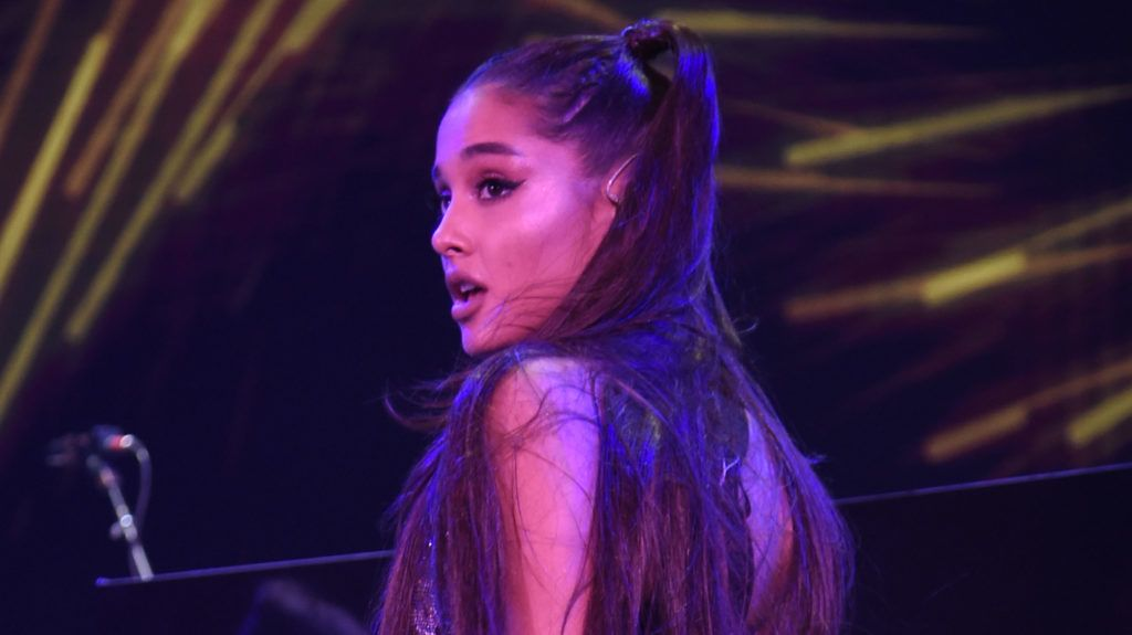 BROOKLYN, NY - JULY 11:  Ariana Grande performs onstage at the Amazon Music Unboxing Prime Day event on July 11, 2018 in Brooklyn, New York.  (Photo by Kevin Mazur/Getty Images for Amazon)