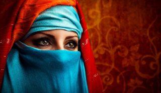 16011168 - young arabic woman. stylish portrait