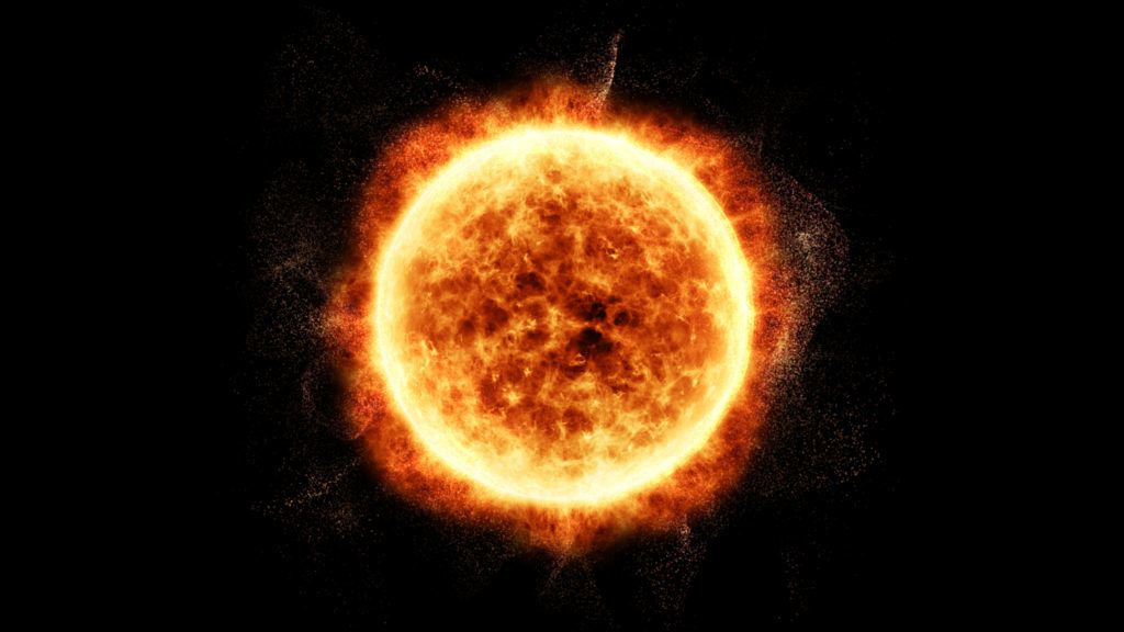 Sun Solar Flare Particles coronal mass ejections for background computer desktop screen display