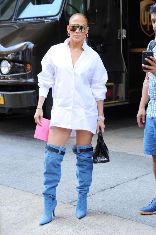 Jennifer Lopez arrives to the Z-100 radio station. 31 Jul 2018 Pictured: Jennifer Lopez. Photo credit: MEGA  TheMegaAgency.com +1 888 505 6342 *** Local Caption *** MEGA258698_007