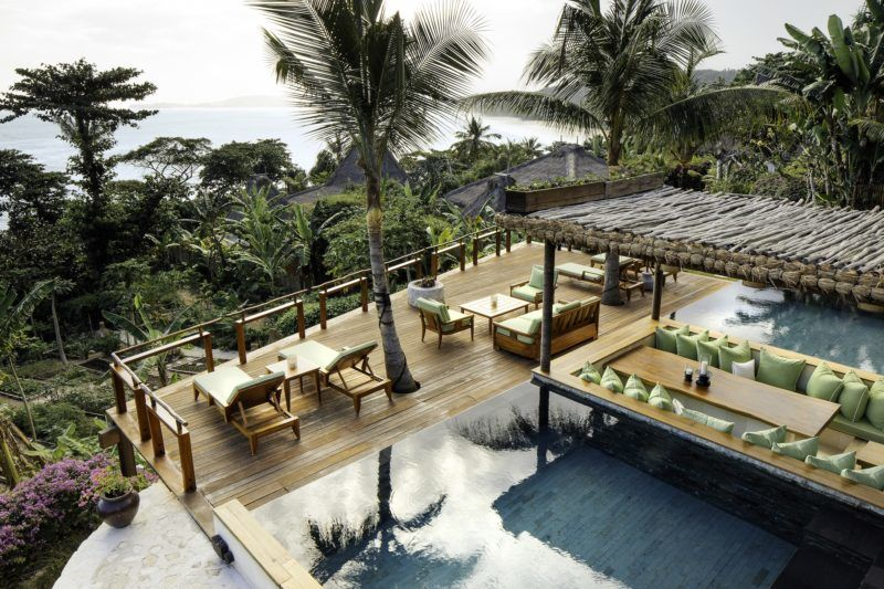 David and Victoria Beckham and their brood are living it up in a $6,500-a-night hotel after escaping the deadly Bali earthquake zone. The family had been enjoying a luxury retreat in Bali, but following an earthquake in the neighboring island of Lombok last week that left at least 321 dead, the football ace decided to evacuate his family 450 miles away from the disaster zone to a private island of Sumba near Indonesia. David and Victoria along with their children Brooklyn, 19, Romeo 15, Cruz 12, and Harper, 7, arrived at the Nihi resort on Sunday, according to media reports, and are staying in a stunning four-bedroom villa complete with its own pool, which goes for $6,500-a-night. But according to reports, the hotel   which has twice been voted the best hotel in the world by travel writers   is putting the Beckhams up for free. The family arrived to the island on Sunday and are said to have flown in by private jet before being whisked off to the Nihi resort in a SUV. As these photos shows, the stunning resort is the picture-perfect paradise and is located close to one of the region s best surfing beaches. The resort boasts 27 villas and 38 rooms ranging in size, with all accommodations having a private pool, and the hotel is set on a 2.5km stretch of private beach and surrounded by lush greenery. The hotels asks guests who visit the local villages to wear appropriate clothing, including a sarong   so David should fee right at home   and a T-shirt that covers the shoulders. David and the boys have reportedly enjoyed surfing during their stay, while former Spice Girls Victoria and Harper have been pampered in the hotel s spa. 13 Aug 2018 Pictured: David Beckham and his family are staying at the ultra luxurious Nihi resort on the private island of Sumba near Indonesia after escaping the Bali earthquake zone. Photo credit: Nihi/ MEGA  TheMegaAgency.com +1 888 505 6342 August   *** Local Caption *** MEGA262351_001