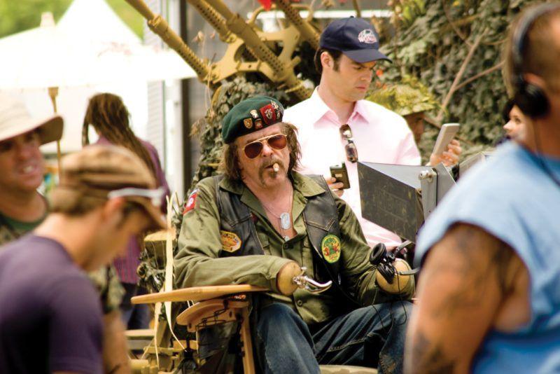 Tonnerre sous les tropiques  Tropic Thunder   Year  2008 - USA  Nick Nolte on the set/Tournage   Director : Ben Stiller
