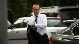 The head of the conservative faction in the EU parliament Manfred Weber leaves his car. The Christian Social Union (CSU) held a board meeting in Munich, Germany, on 18 June 2018, where they discussed about the argue with German Chancellor Angela Merkel and her Christian Democratic Union about the refugee crisis and migration. (Photo by Alexander Pohl/NurPhoto)