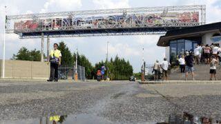 Mogyoród, 2015. július 23.A mogyoródi Hungaroring bejárata a Forma-1-es autós gyorsasági világbajnokság 30. Magyar Nagydíjának előkészületei során 2015. július 23-án.MTI Fotó: Kovács Tamás
