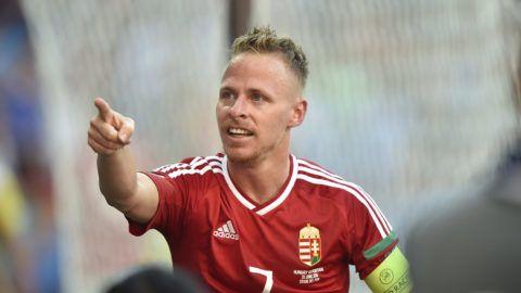 Lyon, 2016. június 22.Dzsudzsák Balázs örül a második góljának a franciaországi labdarúgó Európa-bajnokság F csoportja harmadik fordulójában játszott Magyarország - Portugália mérkőzésen, Lyonban 2016. június 22-én.MTI Fotó: Illyés Tibor