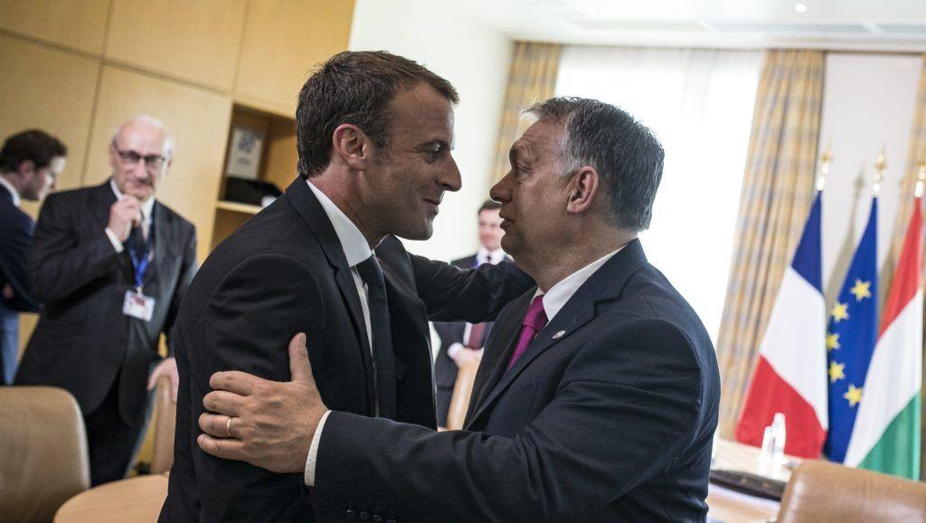 Risultati immagini per Orban e Macron immagini