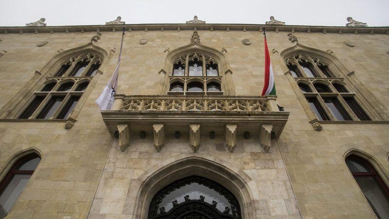 Budapest, 2015. december 18.A Nemzetgazdasági Minisztérium (NGM) leendő épülete a Budai várban, a Szentháromság tér 6. szám alatt 2015. december 18-án. A budai Várnegyedben helyezi el a kormány a Belügyminisztériumot (BM) és az NGM-et.MTI Fotó: Balogh Zoltán