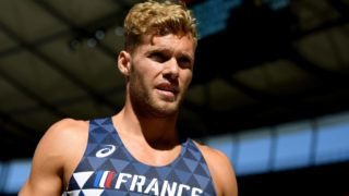 BERLIN, GERMANY - AUGUST 07:  Kevin Mayer of France looks on during the Men's Decathlon Long Jump during day one of the 24th European Athletics Championships at Olympiastadion on August 7, 2018 in Berlin, Germany.  (Photo by Matthias Hangst/Getty Images)