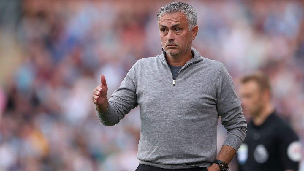 BURNLEY, ENGLAND - SEPTEMBER 02: Manchester United Manager  Head Coach Jose Mourinho during the Premier League match between Burnley FC and Manchester United at Turf Moor on September 2, 2018 in Burnley, United Kingdom. (Photo by James Williamson - AMA/Getty Images)