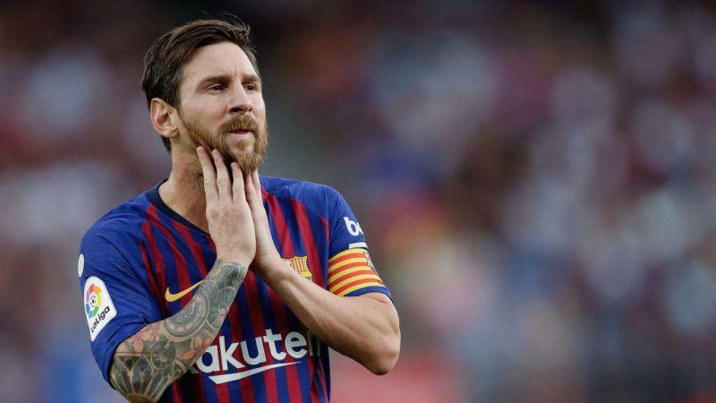 BARCELONA, SPAIN - SEPTEMBER 2: Lionel Messi of FC Barcelona  during the La Liga Santander  match between FC Barcelona v SD Huesca at the Camp Nou on September 2, 2018 in Barcelona Spain (Photo by Jeroen Meuwsen/Soccrates/Getty Images)