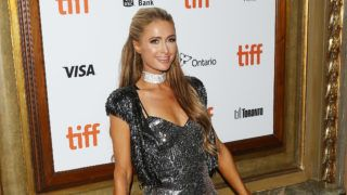 """TORONTO, ON - SEPTEMBER 10:  Paris Hilton arrives to the premiere of """"The Death and Life of John F. Donovan"""" held during 2018 Toronto International Film Festival on September 10, 2018 in Toronto, Canada.  (Photo by Michael Tran/FilmMagic)"""