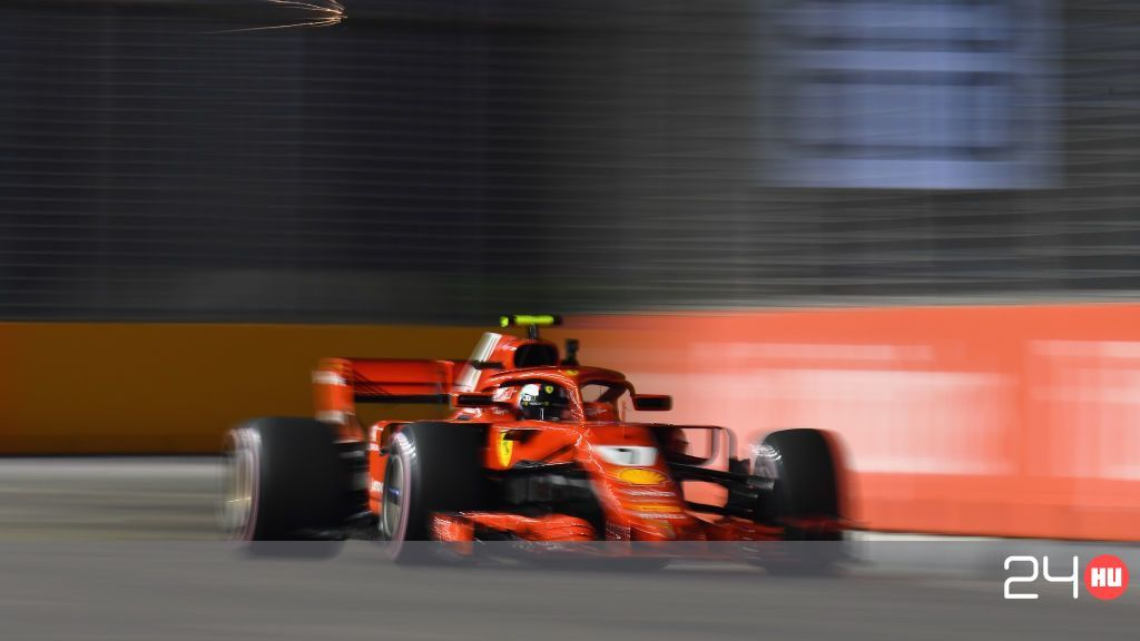 Kimi Räikkönen odapörkölt Szingapúrban