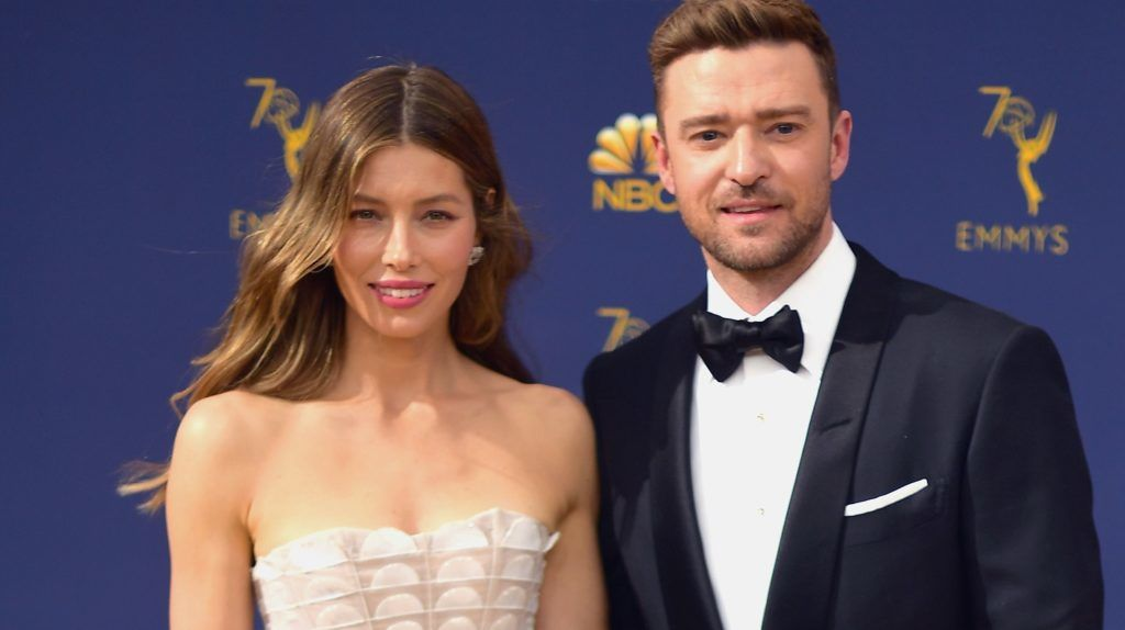 LOS ANGELES, CA - SEPTEMBER 17: (EDITORS NOTE: Retransmission with alternate crop.)  Jessica Biel (L) and Justin Timberlake attend the 70th Emmy Awards at Microsoft Theater on September 17, 2018 in Los Angeles, California.  (Photo by Matt Winkelmeyer/Getty Images)