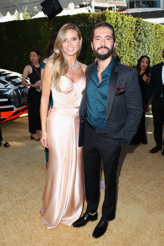 LOS ANGELES, CA - SEPTEMBER 17:  Heidi Klum (L) and Tom Kaulitz attend Audi at The 70th Annual Emmy Awards at Microsoft Theater on September 17, 2018 in Los Angeles, California.  (Photo by Joe Scarnici/Getty Images for Audi)