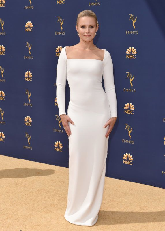 LOS ANGELES, CA - SEPTEMBER 17:  Kristen Bell attends the 70th Emmy Awards at Microsoft Theater on September 17, 2018 in Los Angeles, California.  (Photo by Axelle/Bauer-Griffin/FilmMagic)