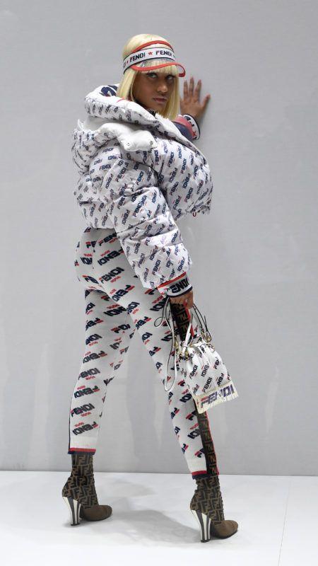 MILAN, ITALY - SEPTEMBER 20:  Nicki Minaj attends the Fendi show during Milan Fashion Week Spring/Summer 2019 on September 20, 2018 in Milan, Italy.  (Photo by Jacopo Raule/Getty Images)