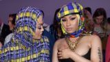 MILAN, ITALY - SEPTEMBER 21:  Rita Ora and Nicki Minaj attend the Versace show during Milan Fashion Week Spring/Summer 2019 on September 21, 2018 in Milan, Italy.  (Photo by Jacopo Raule/Getty Images)