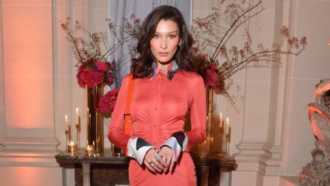PARIS, FRANCE - SEPTEMBER 26: Bella Hadid attends the YouTube cocktail party during Paris Fashion Week on September 26, 2018 in Paris, France.  (Photo by Victor Boyko/Getty Images for YouTube)