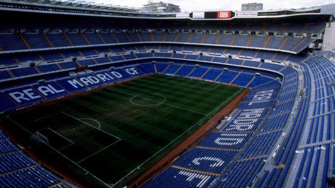 3 Mar 1999:  The Santiago Bernabeu Stadium, home of Real Madrid.  Mandatory Credit: Graham Chadwick /Allsport