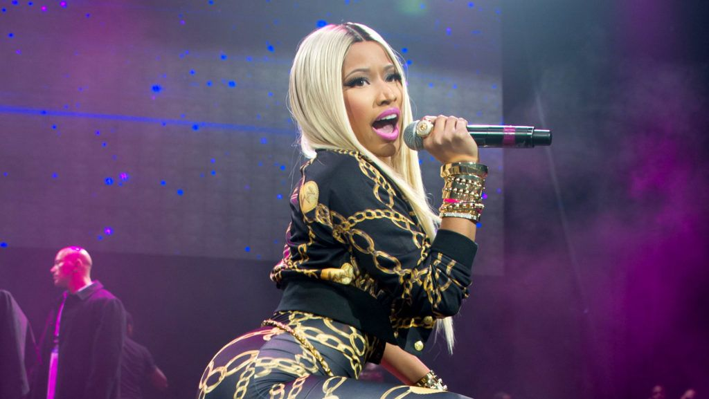 NEW YORK, NY - NOVEMBER 02:  Rapper Nicki Minaj performs during Power 105.1 Powerhouse 2013 at Barclays Center on November 2, 2013 in the Brooklyn borough of New York City.  (Photo by Michael Stewart/WireImage)