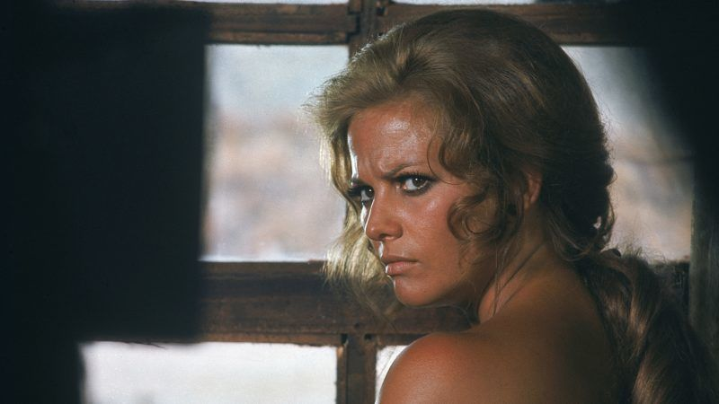 Italian actress Claudia Cardinale on the set of C'era Una Volta Il West (Once Upon a Time in the West), written, directed and produced by Sergio Leone. (Photo by Sunset Boulevard/Corbis via Getty Images)