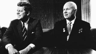 President Kennedy meets with Soviet Premier Nikita Krushchev at the Vienna Summit, June 3, 1961. (Photo by © CORBIS/Corbis via Getty Images)