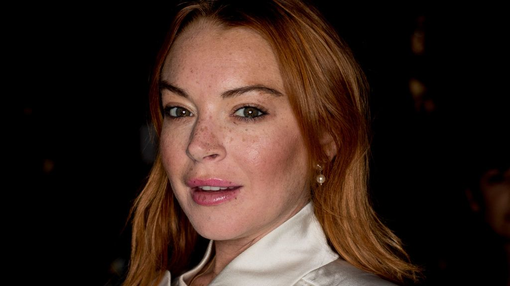 MADRID, SPAIN - SEPTEMBER 15:  Actress Lindsay Lohan attends the 'Devota & Lomba' catwalk at IFEMA on September 15, 2017 in Madrid, Spain.  (Photo by Eduardo Parra/Getty Images)